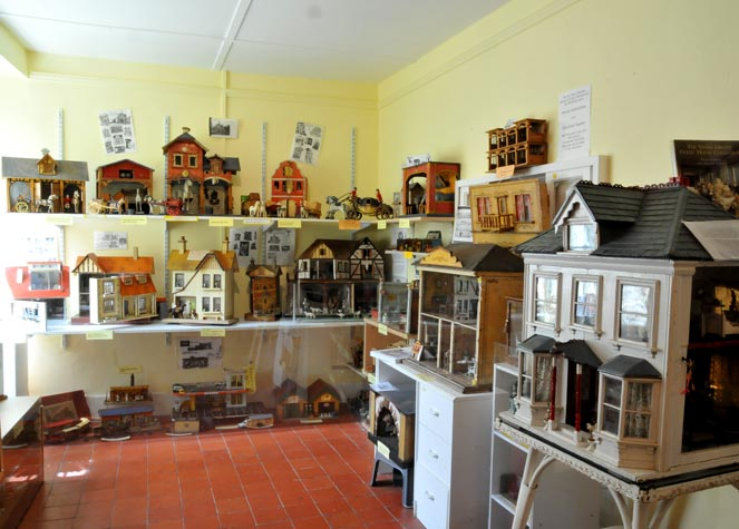 View of a selection of Dolls Houses in the second museum room