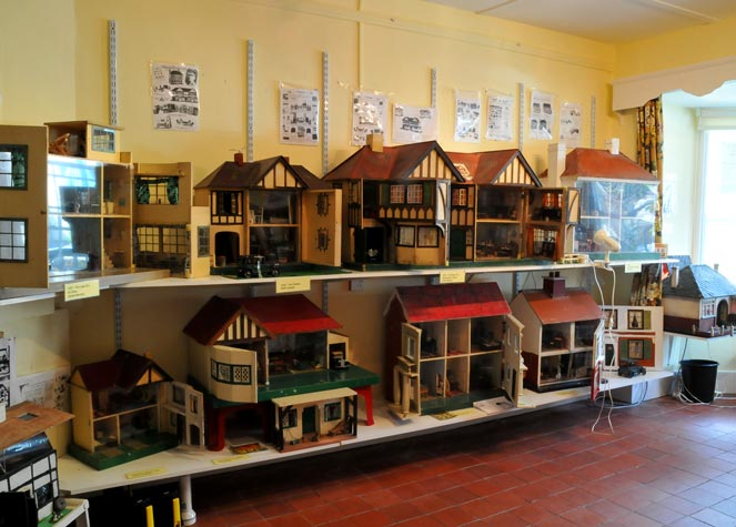 View of a selection of Dolls Houses in the main museum room