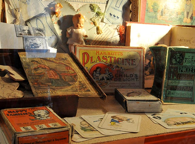 View of a selection of games