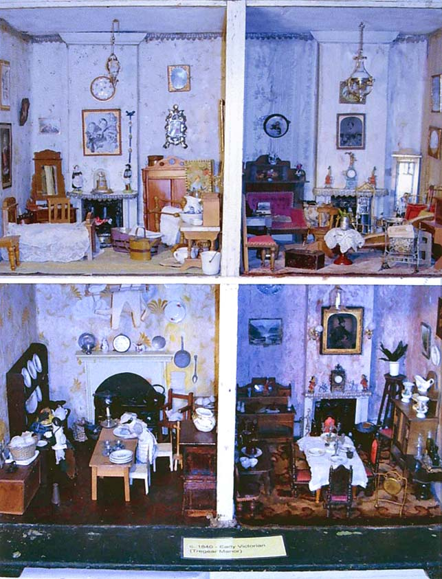 View of Interior of 1840's Dolls House