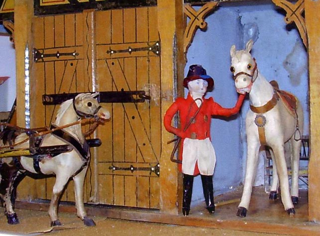 Close up view of exhibit, Stables
