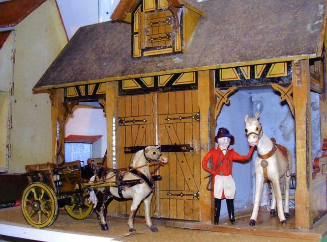 View of Boys Stable Dolls House