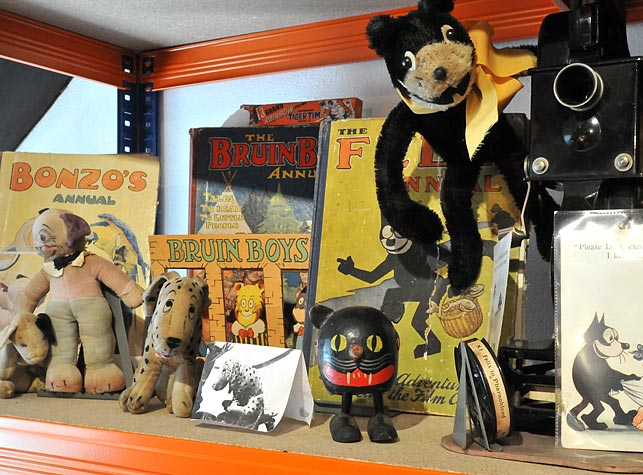 View of a selection of toys