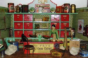 Close up of exhibit at the Dolls House Museum, Newport Pembrokeshire