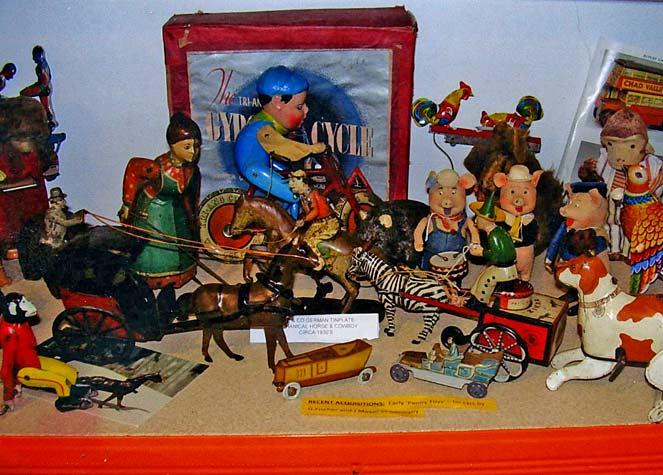 View of Vintage Tin Toys